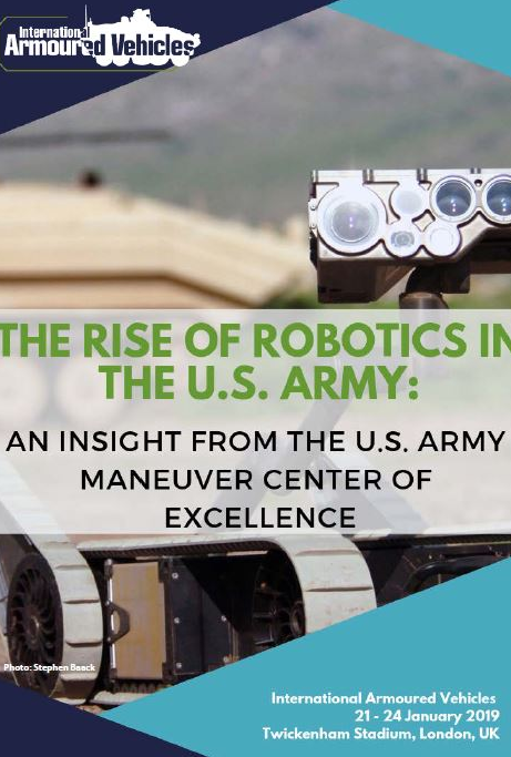 The rise of robotics in the U.S. Army: An insight from the U.S. Army Maneuver Center of Excellence