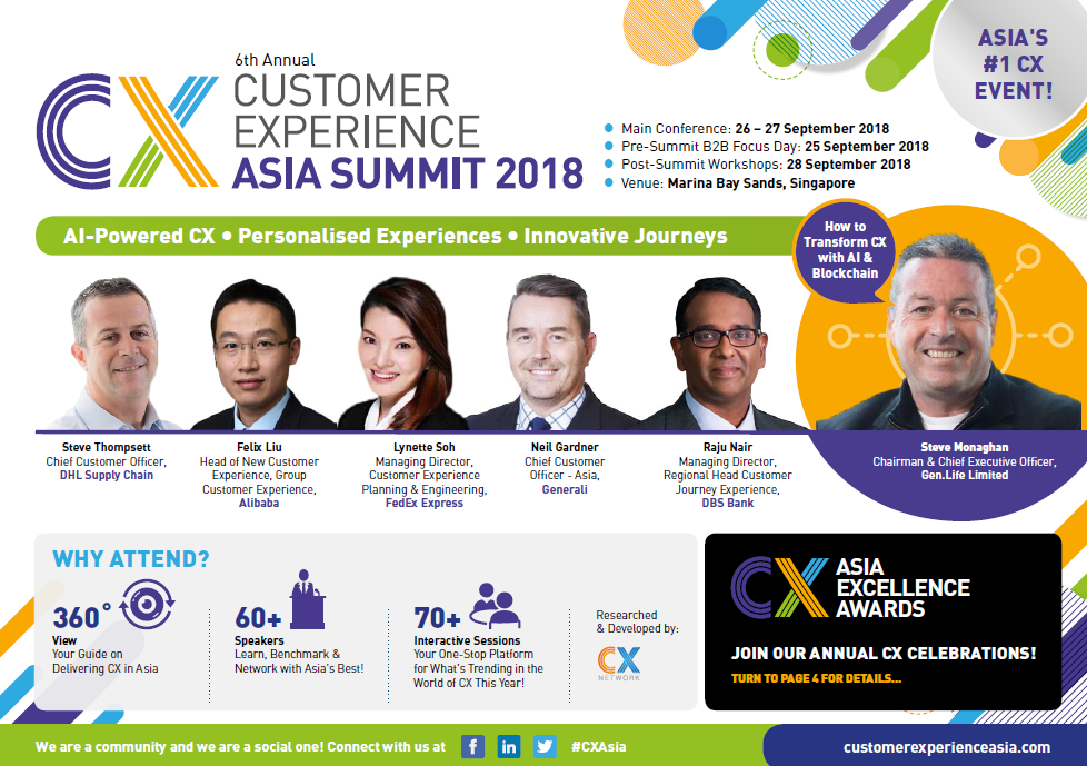 View Your Event Guide - Customer Experience Asia 2018