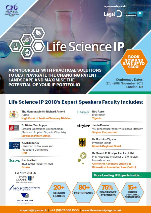 Life Science IP - View the agenda