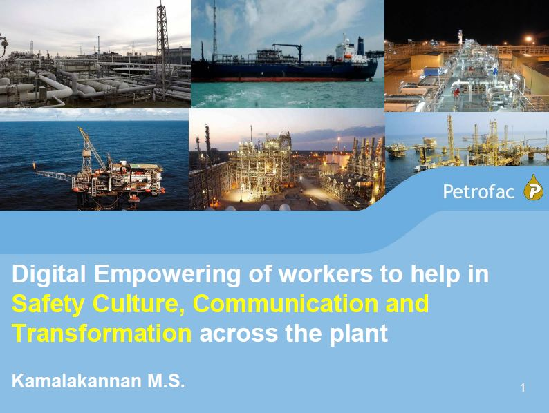 Petrofac's presentation on safety culture, communication and transformation