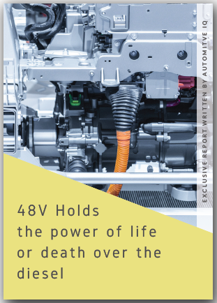AutomotiveIQ report on how 48V holds the power of life or death over the diesel