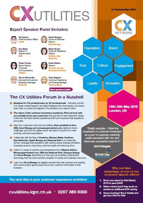 CX Utilities Forum 2019 Brochure