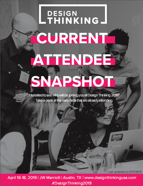 2019 Design Thinking Current Attendee Snapshot