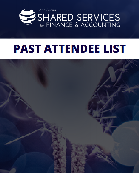 Shared Services for Finance & Accounting 2020: Past Attendee List
