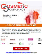 Current Attendee List - Cosmetic Compliance 2018