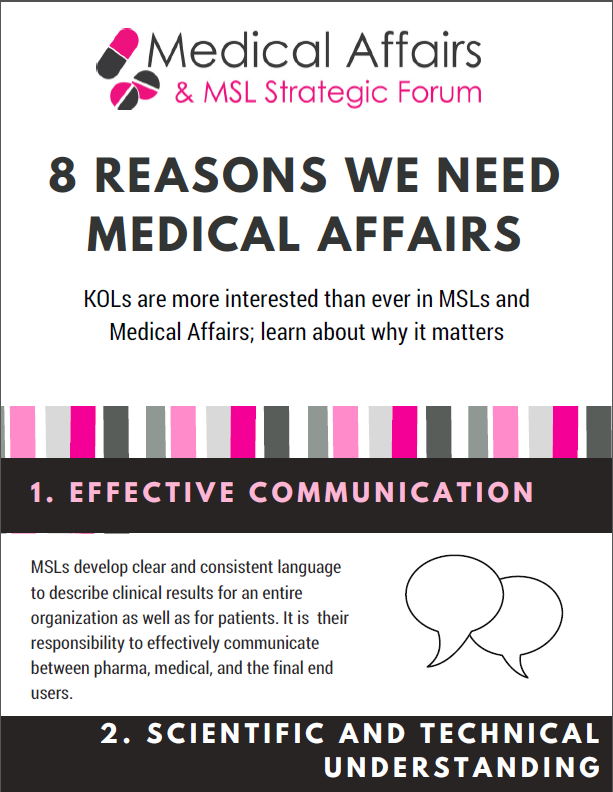 8 Reasons We Need Medical Affairs
