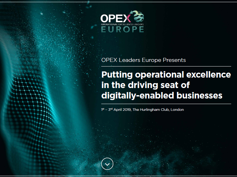 Download the Agenda | OPEX Leaders Europe - Spring Edition