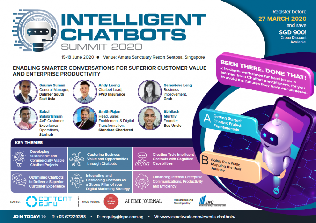 View the Intelligent Chatbots 2020 Online Event Agenda
