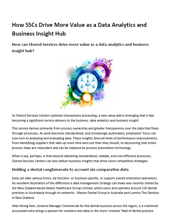 How SSCs Can Drive More Value with Data Analytics