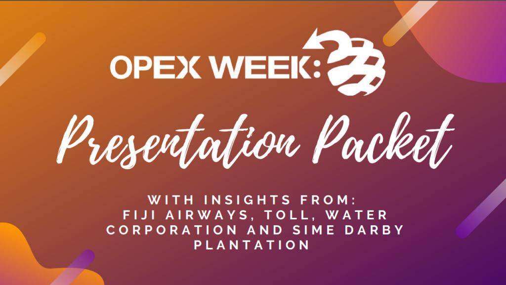 OPEX Week Australia - Presentation Packet