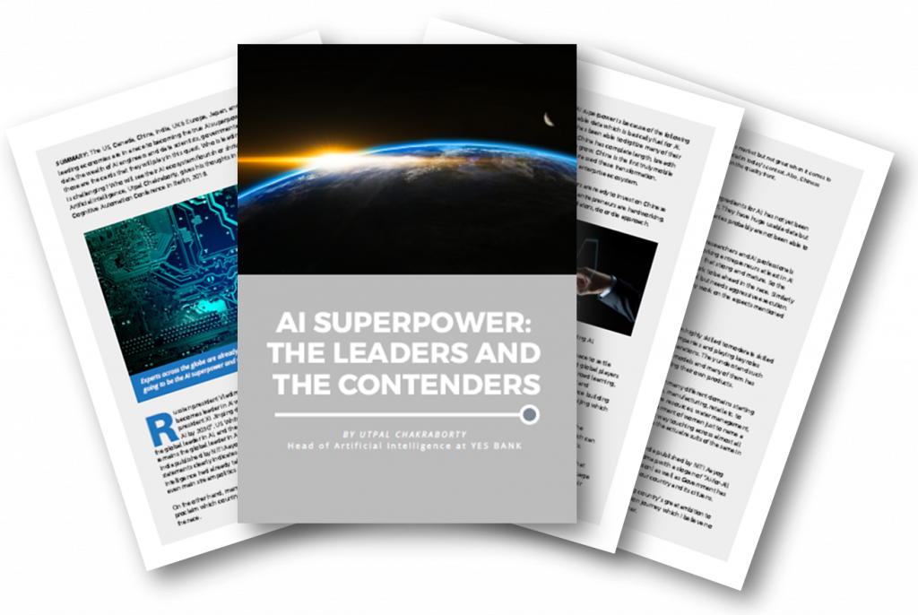 """Utpal Chakraborty Article on """"AI Superpower: The Leaders and The Contenders"""""""