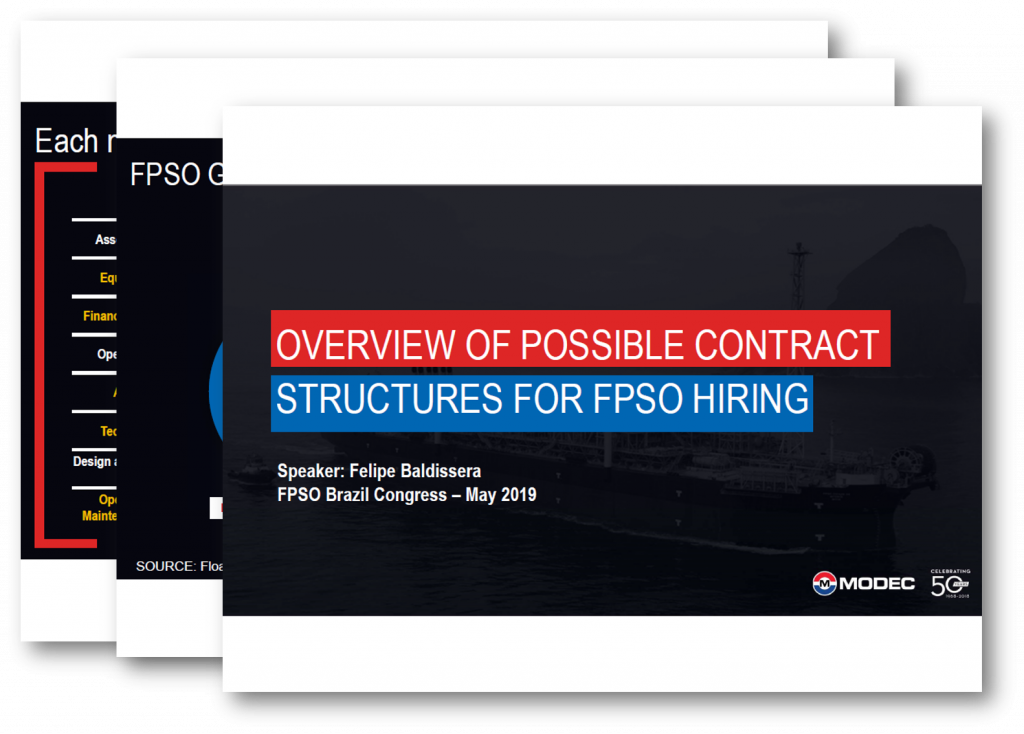 Overview of possible contract structures for FPSO hiring