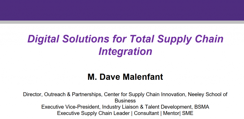 Digital Solutions for End to End Supply Chain Integration for the Canadian Market