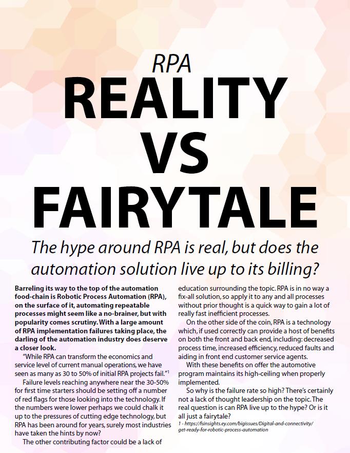 IA Week 2018 - spex - RPA Fairytale