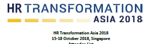 HR Transformation Asia Summit - Attendee List