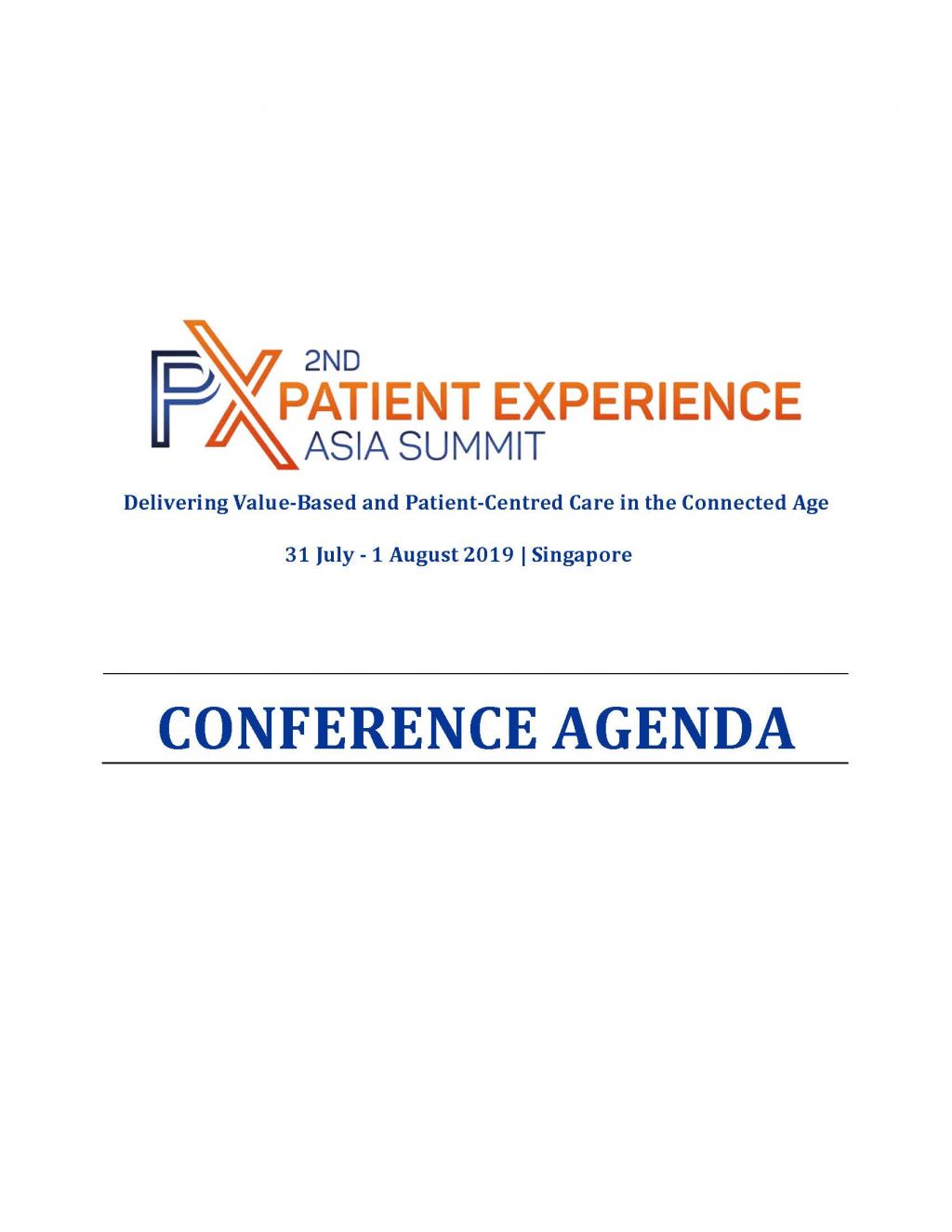 View the Agenda - Patient Experience Asia Summit 2019