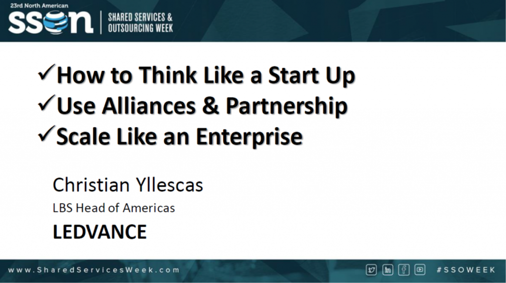 How to Think like a Start up & Use Alliances & Partnership to Scale like an Enterprise