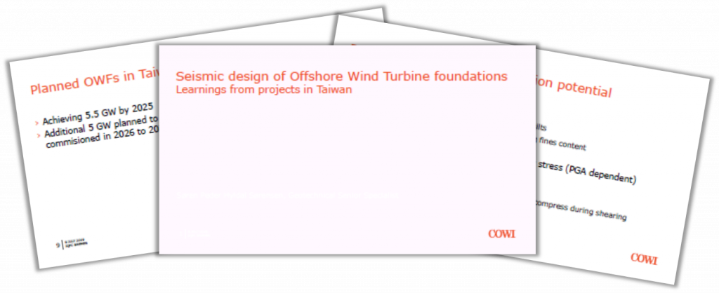 COWI Presentation on Seismic Design of Offshore Wind Turbine Foundations