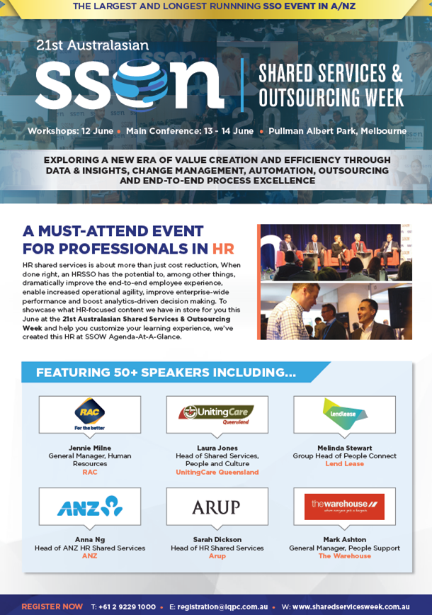 Shared Services and Outsourcing Week 2018 Business Case for HR