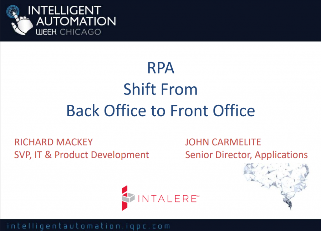 RPA Shift from Back Office to Front Office