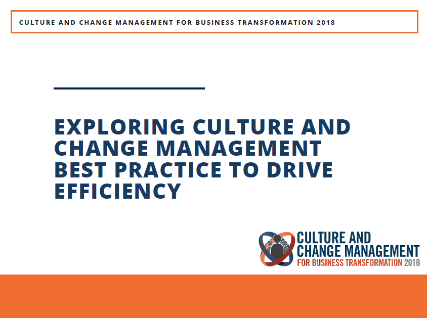 Exploring Culture and Change Management Best Practice to Drive Efficiency