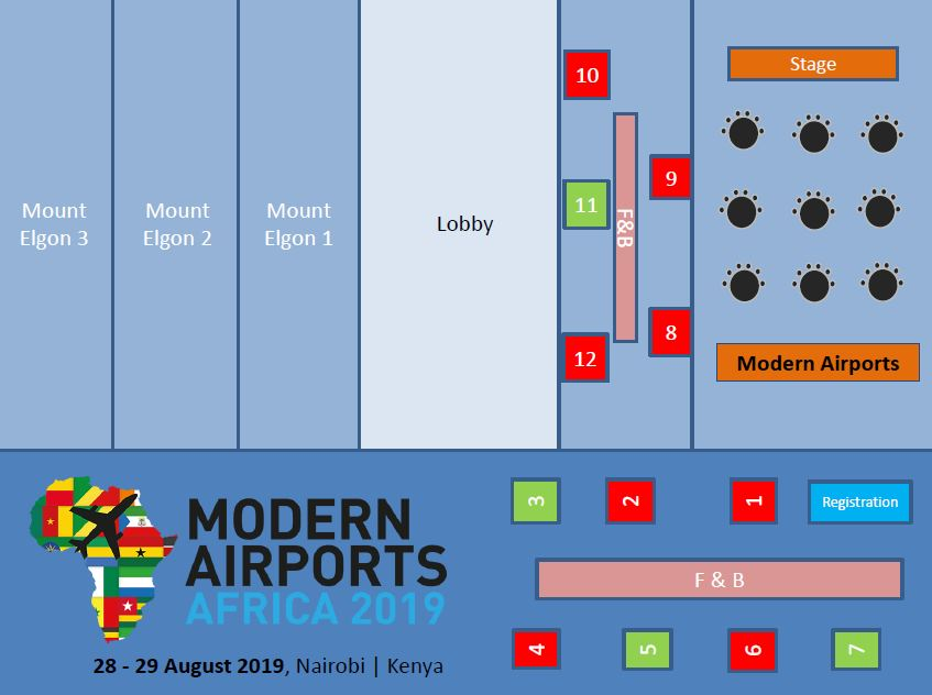 Modern Airports Africa 2019 - Floor Plan