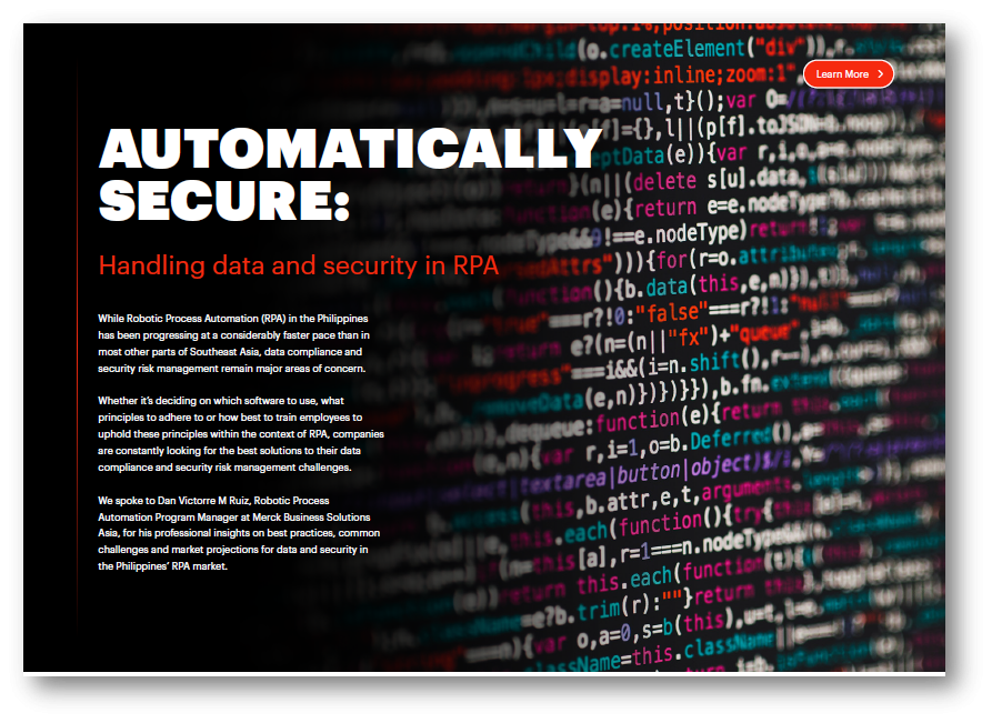 Handling Data and Security in RPA