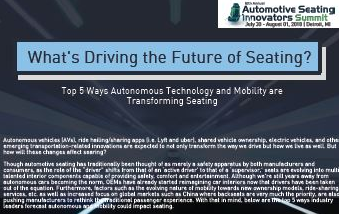 What's Driving the Future of Seating? Top 5 Ways Autonomous Technology and Mobility are Transforming Seating