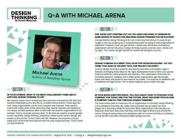 Q+A with Michael Arena, Author of Adaptive Space
