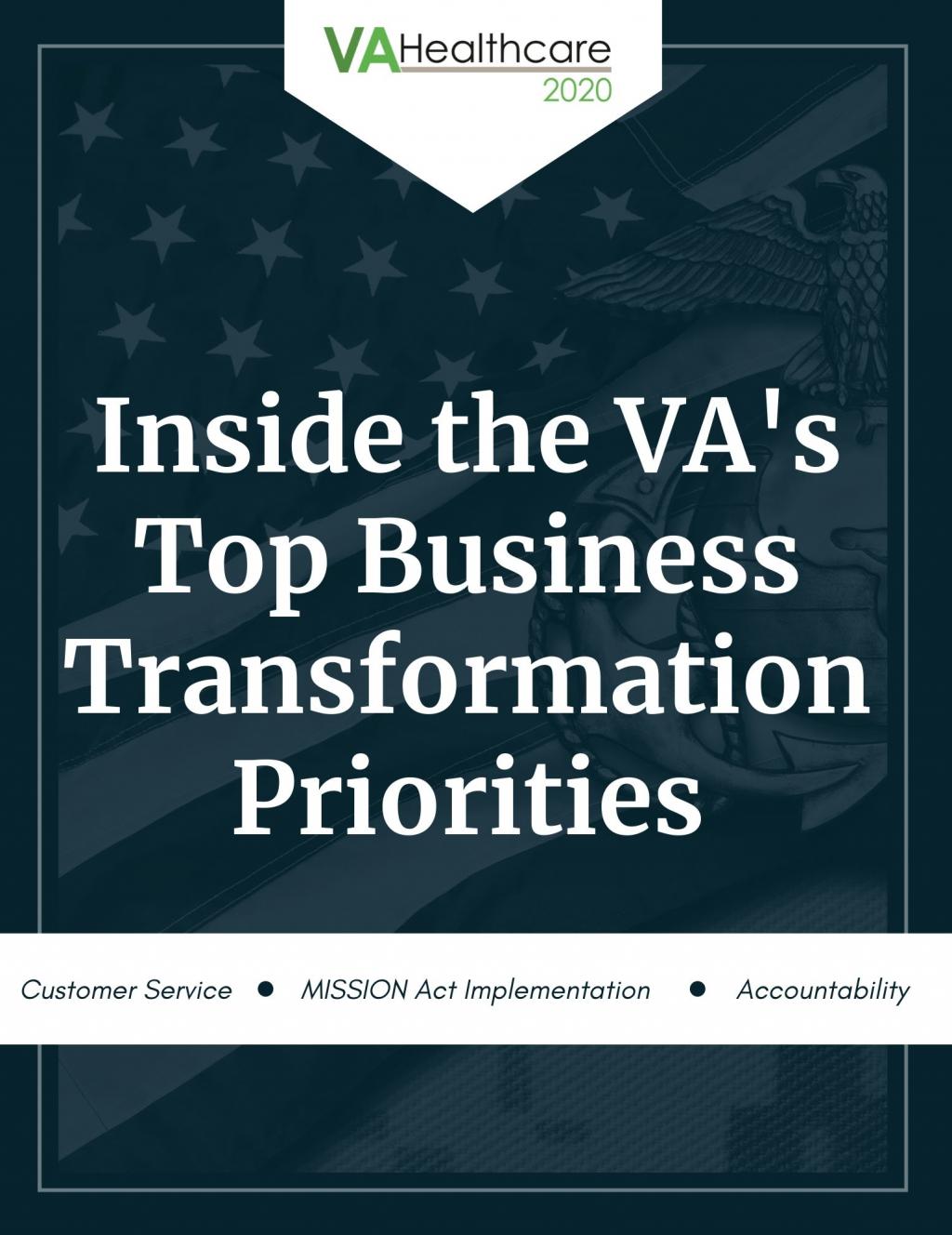 Inside the Dept. of Veteran Affairs Top Business Transformation Priorities