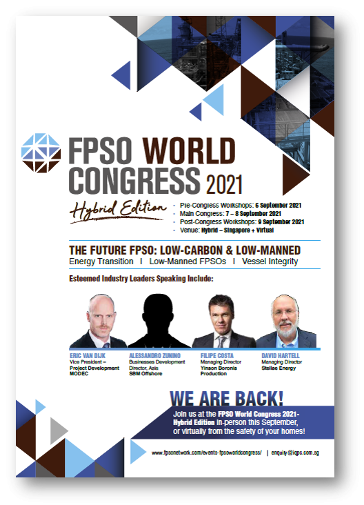 View Agenda - FPSO World Congress 2021 - Hybrid Edition