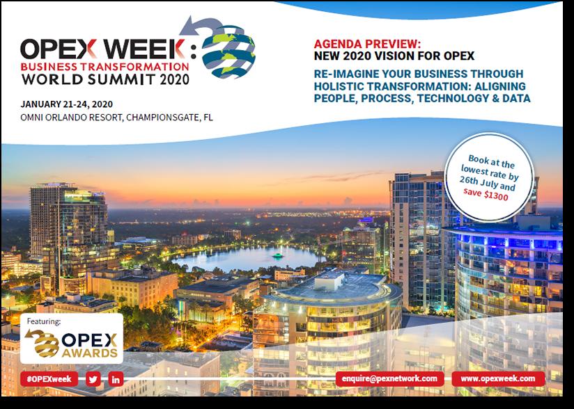 OPEX Week 2020 Agenda Preview