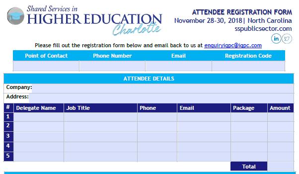 Fall 2018 Registration Form