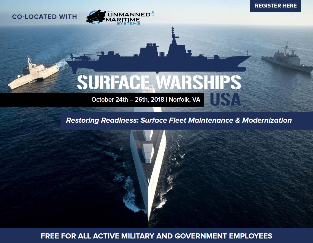 View the full event outline - Surface Warships Summit 2018