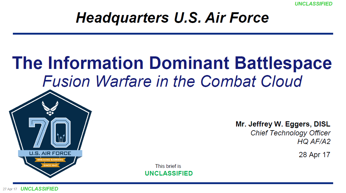 The Information Dominant Battlespace: Fusion Warfare in the Combat Cloud