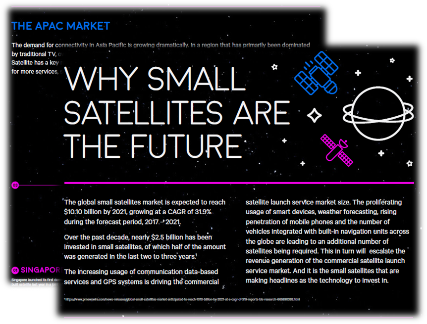 Why small satellites are the future