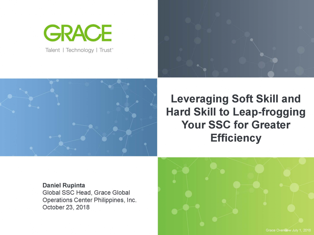 Download the Presentation - Leveraging Soft Skill and Hard Skill to Leap-frogging Your SSC for Greater Efficiency