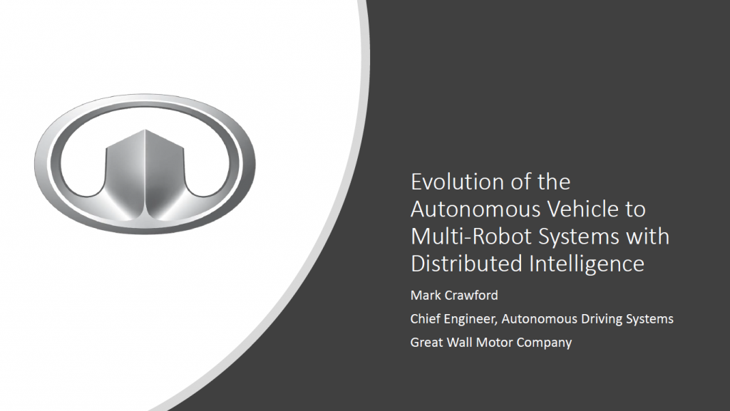 Read the Past Presentation - Evolution of the Autonomous Vehicle to Multi-Robot Systems with Distributed Intelligence