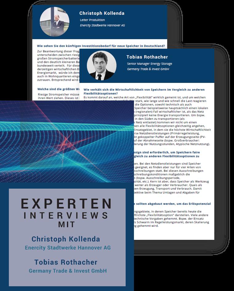 Enercity und Germany Trade & Invest über Investitionsbedarf und Wirtschaftlichkeit für Energiespeicherung in Deutschland