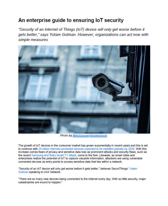 An Enterprise Guide to Ensuring IoT Security