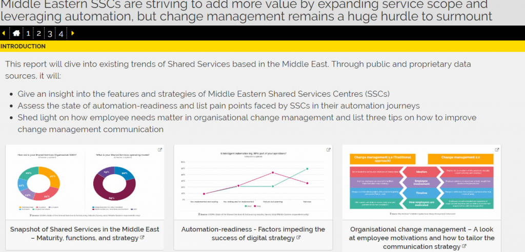 Interactive Report: The Middle Eastern Shared Services 2019 Visual Analytic Workbook