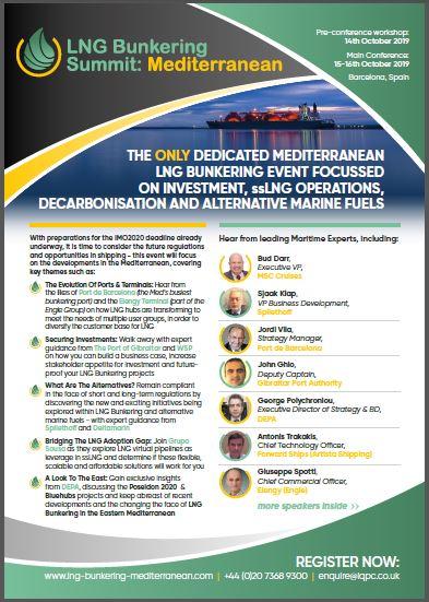 LNG Bunkering Summit: Mediterranean - Agenda