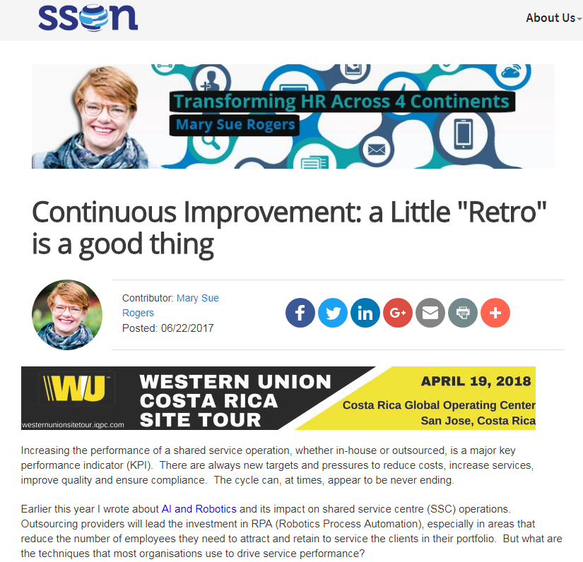 "Continuous Improvement: A Little ""Retro"" is a Good Thing"