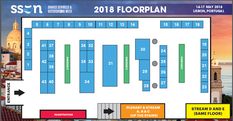 2018 Floorplan | Shared Services and Outsourcing Week