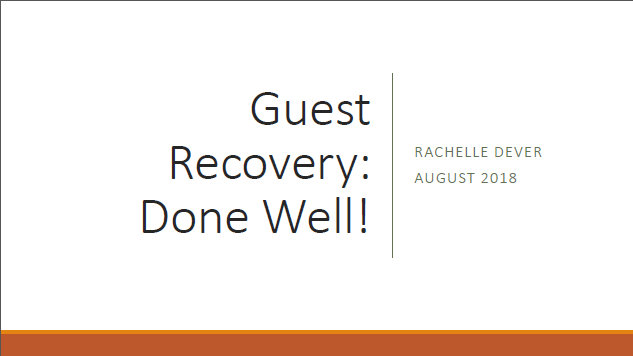 Presentation: Rachelle Dever, Brand & Guest Experience Director InterContinental Hotels Group
