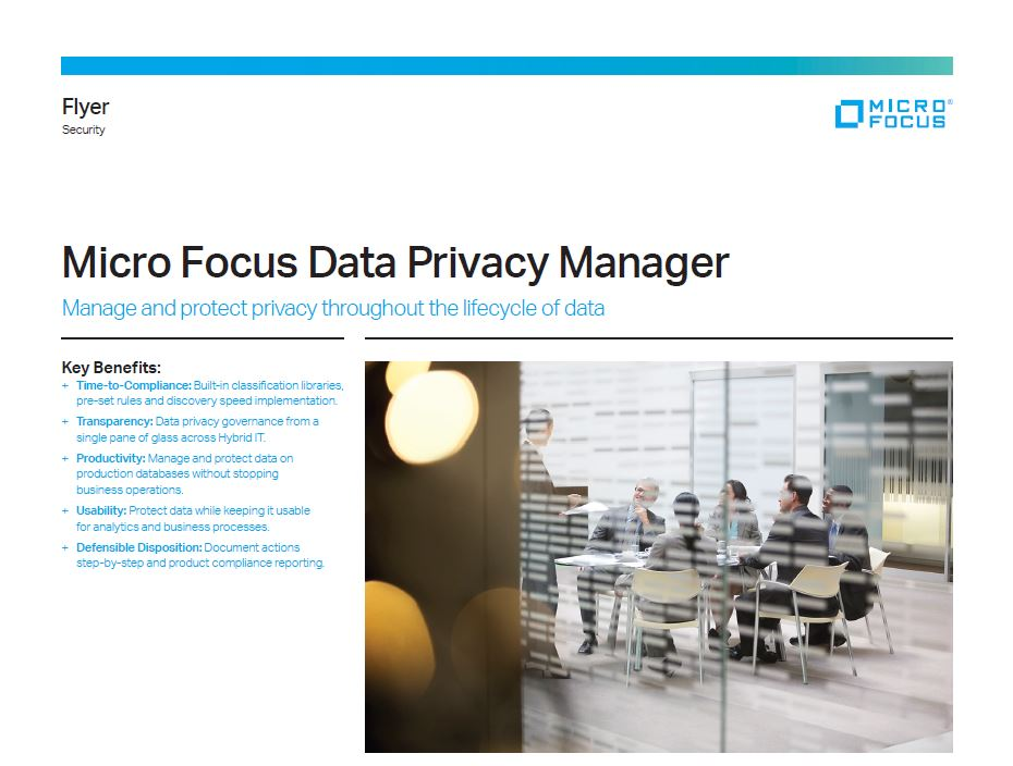 Micro Focus Data Privacy Manager