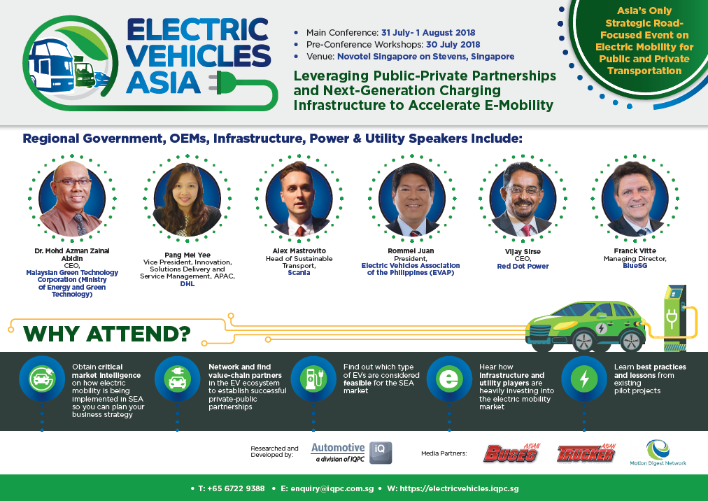 Electric Vehicles Asia 2018 Programme