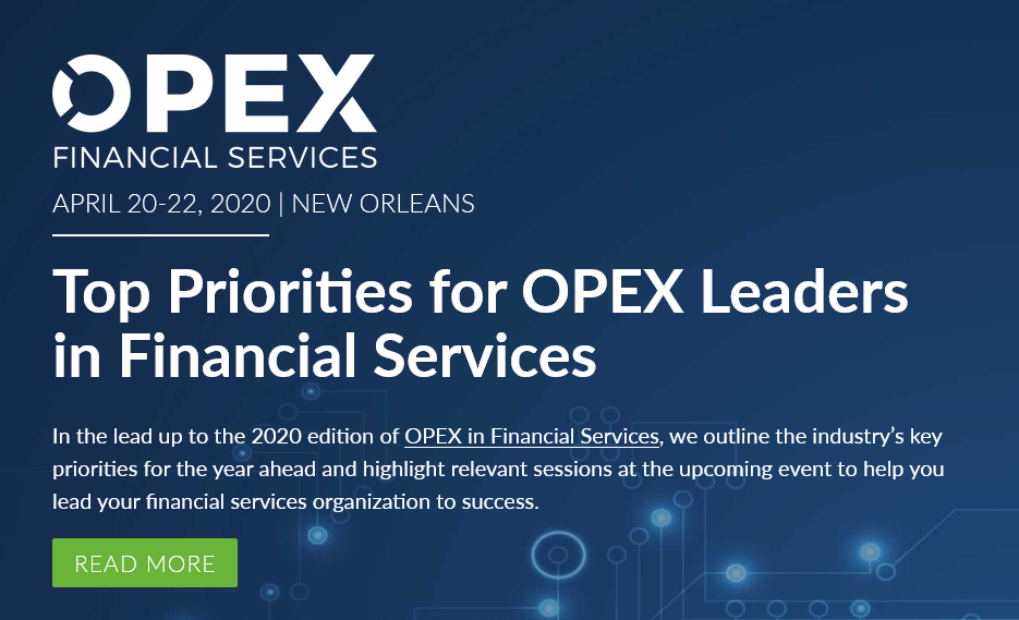 Top Priorities for OPEX Leaders in Financial Services