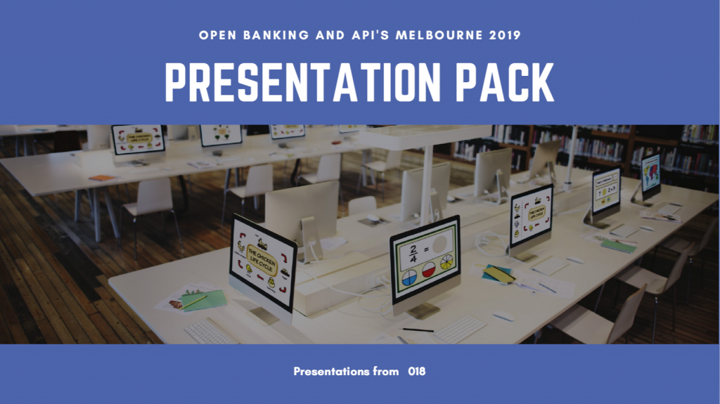 Open Banking and API's Presentation Pack