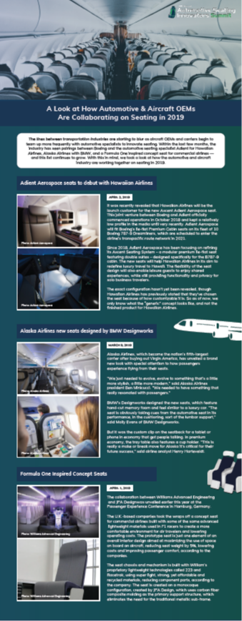 A Look at How Automotive & Aircraft OEMs Are Collaborating on Seating in 2019